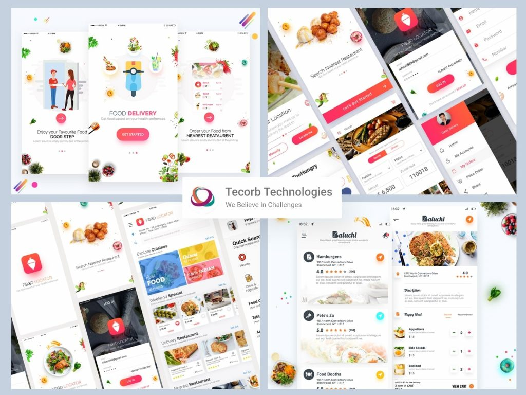 How does food ordering app work for everyone